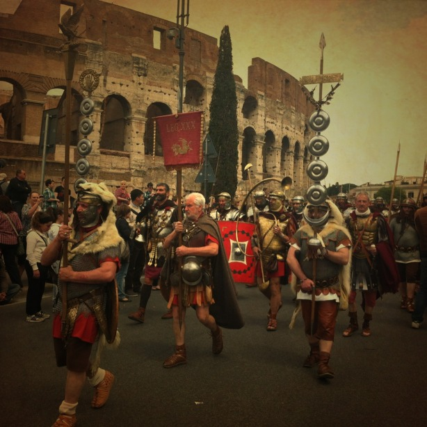 Historic Parade by the Colosseum, Rome