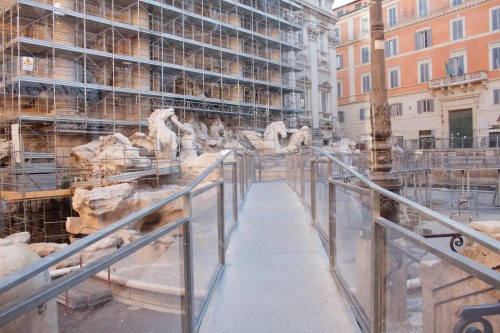 Trevi Fountain Walkway Bridge