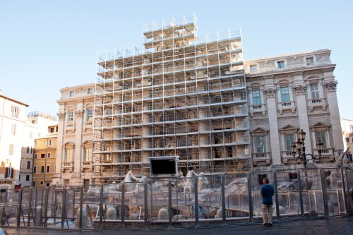 Trevi Fountain Under Restoration