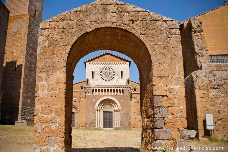 San Pietro Church in Tuscania, on Etruscan Mystery Tour with Stefano Rome tours