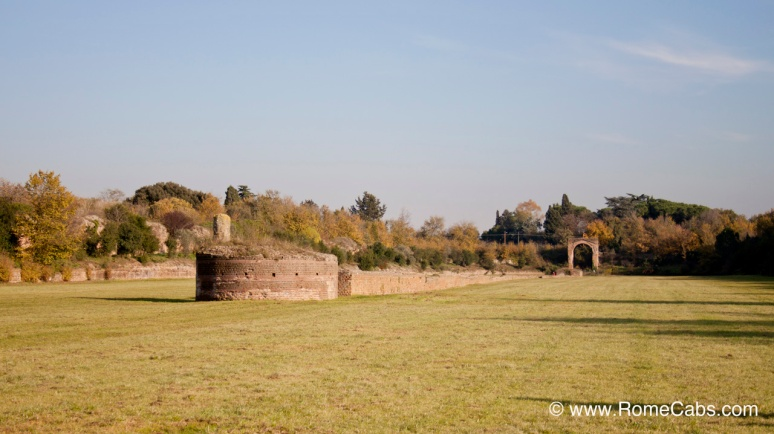 Circus of Maxentius / Circo Massenzio central spine - with RomeCabs