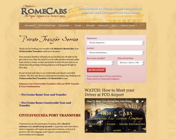 Civitavecchia Port Transfers - Stefano's RomeCabs