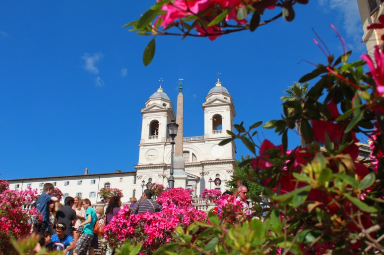 Spanish Steps in Spring with Azalea Flowers - Stefano's RomeCabs