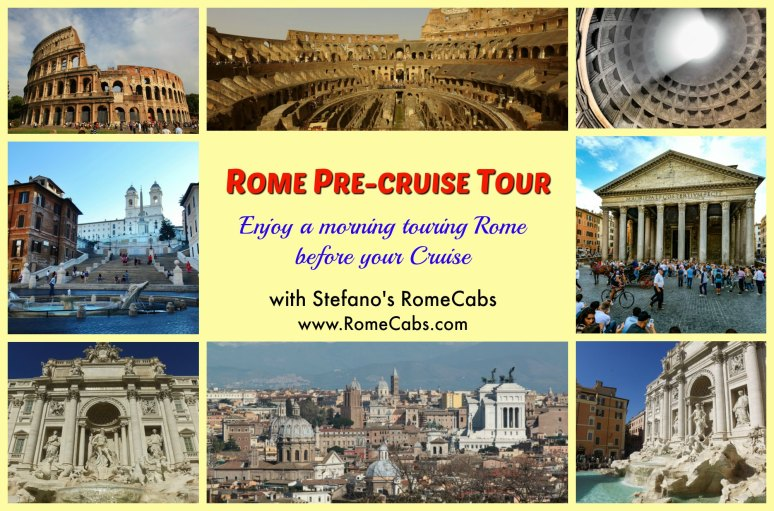 ROME PRE CRUISE TOUR with Stefano's RomeCabs