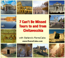 7 Can't Be Missed Tours to and from Civitavecchia Collage