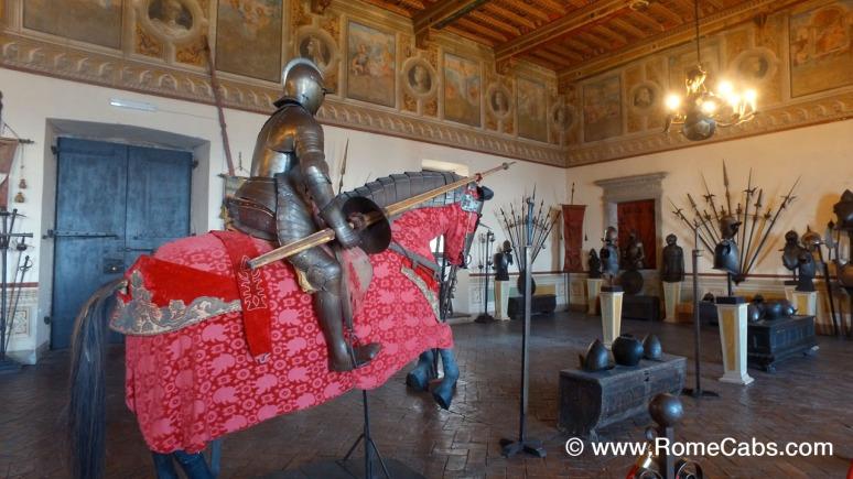 ARMORY HALL - Bracciano Orsini-Odescalchi Castle - with RomeCabs