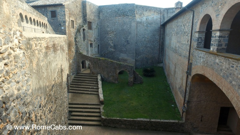 Bracciano Orsini-Odescalchi Castle atrium - with RomeCabs