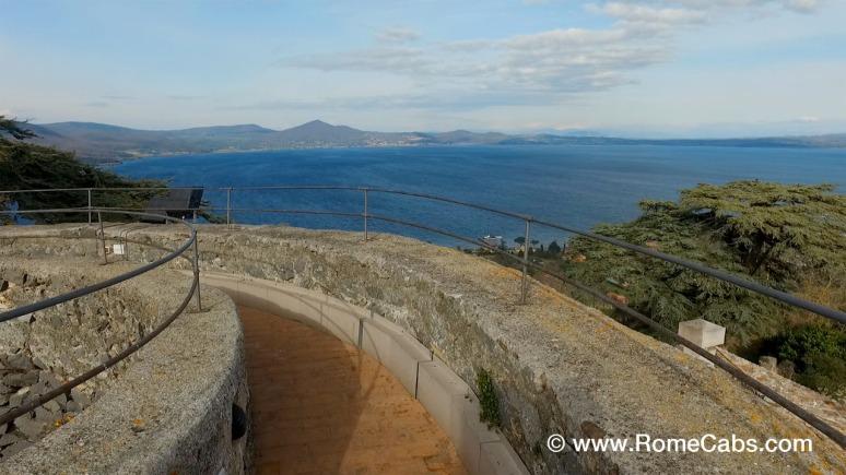 Bracciano Castle Rampart with Bracciano Lake view