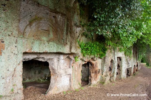 Etruscan rupestrian Necropolis in Sutri