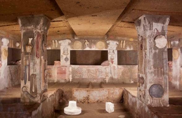 Tomb of Reliefs - Banditaccia Etruscan Necropolis
