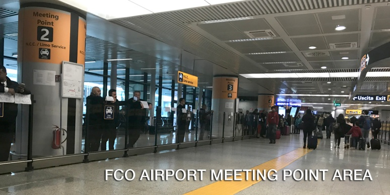 FCO AIRPORT MEETING POINT AREA - RomeCabs