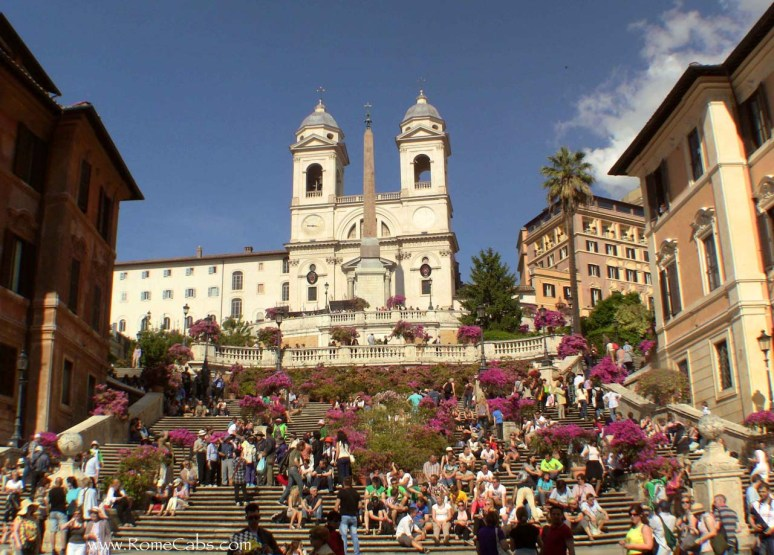 Spanish Steps - Rome in A Day Tour with RomeCabs
