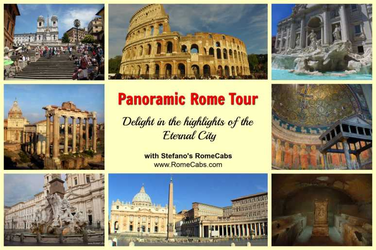 PANORAMIC ROME TOUR  from Civitavecchia Cruise Port - with RomeCabs