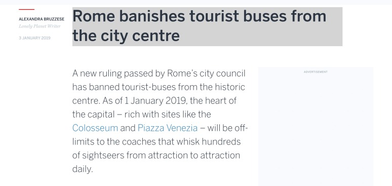 Why Book Rome Private Tours from Cruise Port - Tour Buses BANISHED from Rome City Center