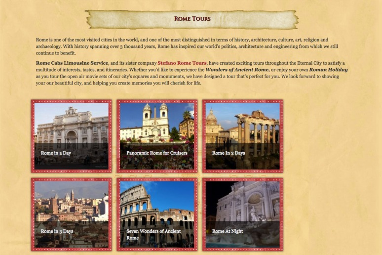 Rome Day Tours - www.RomeCabs.com